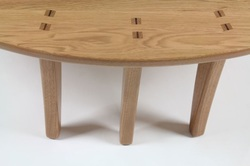 The Sitting Desk, front joinery, AJW Fine Woodwork