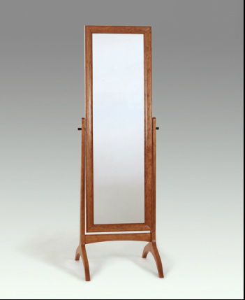 Pedestal or cheval mirror in cherry