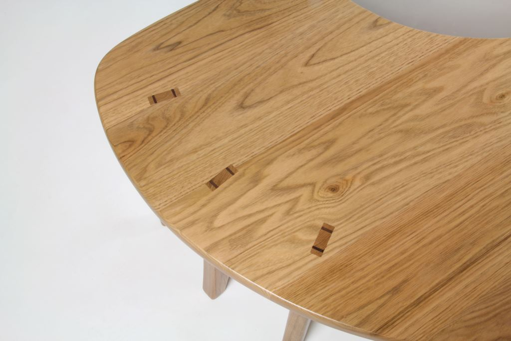 The Sitting Desk, side joinery, AJW Fine Woodwork
