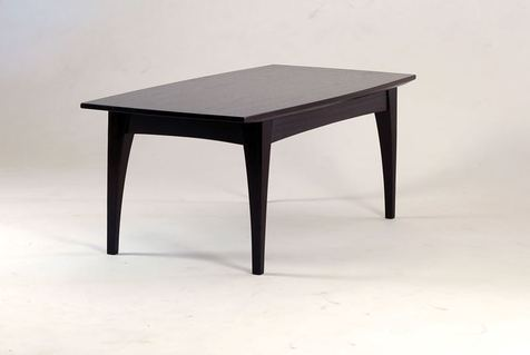 Wenge coffee table three quarter view
